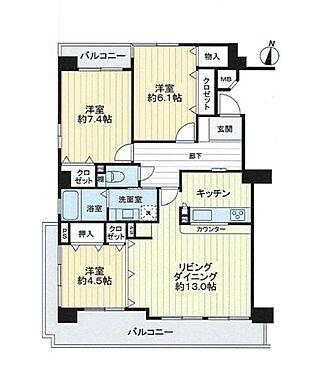 中古マンション-安城市朝日町 3LDK 各居室収納あり 角部屋