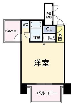 区分マンション-大阪市中央区西心斎橋2丁目 間取り