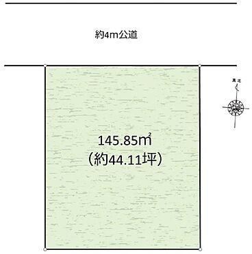 土地-昭島市宮沢町3丁目 区画図