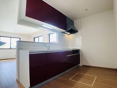 中古一戸建て-安城市東町獅子塚 収納スペース・作業スペースが広いシステムキッチンは奥様にうれしいポイント!