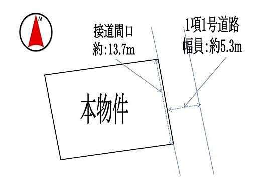 土地-名張市桔梗が丘西1番町 区画図