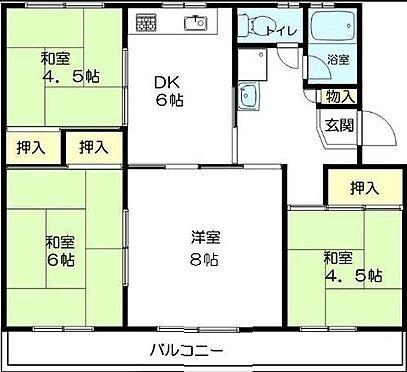 マンション(建物一部)-神戸市北区ひよどり台3丁目 間取り