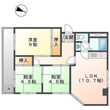 マンション(建物全部)-川崎市幸区下平間 202号室間取り