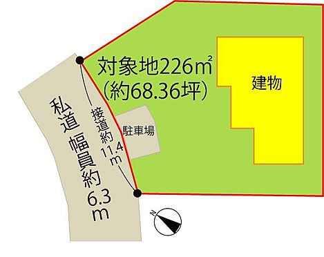 中古一戸建て-伊豆の国市奈古谷 配置図。