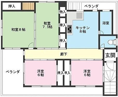 建物一部その他-糸満市西川町 2F住宅間取図