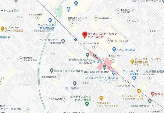 マンション(建物一部)-札幌市白石区東札幌三条1丁目 地図