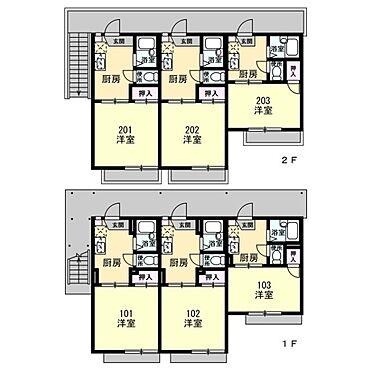 アパート-幸手市中4丁目 1K×6戸
