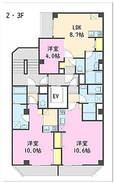 一棟マンション-江東区東陽5丁目 2・3階 間取図