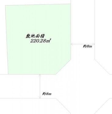 土地-仙台市泉区北中山4丁目 区画図