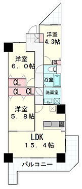 区分マンション-仙台市太白区東中田2丁目 間取り