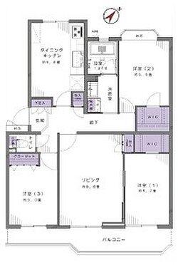 中古マンション-富士見市西みずほ台2丁目 間取り