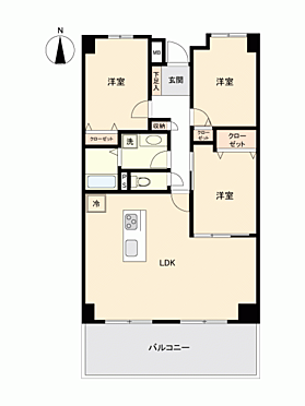 中古マンション-宝塚市逆瀬台1丁目 間取り