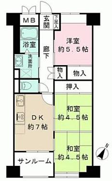 中古マンション-神戸市中央区中山手通2丁目 間取り