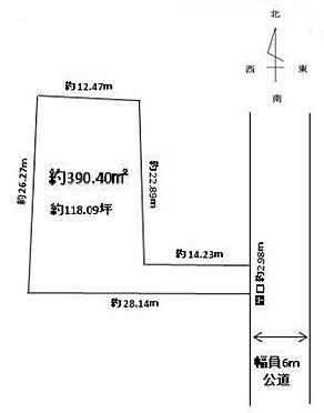 土地-さいたま市北区宮原町4丁目 区画図
