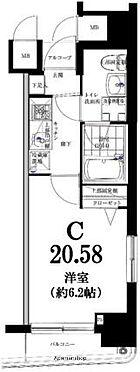 マンション(建物一部)-横浜市西区花咲町4丁目 間取り