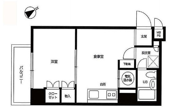 中古マンション-新宿区新宿1丁目 間取り
