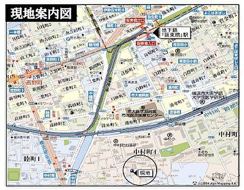 マンション(建物一部)-横浜市南区中村町4丁目 地図