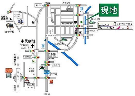 戸建賃貸-東松山市沢口町 地図