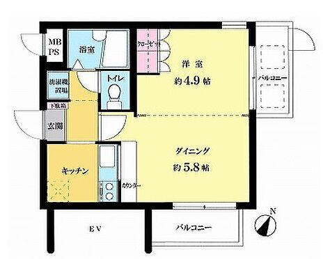 マンション(建物一部)-横浜市南区中村町4丁目 間取り