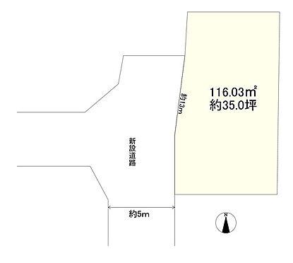 土地-立川市一番町2丁目 区画図