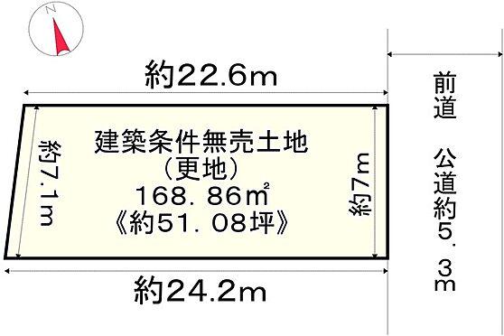土地-京都市左京区下鴨松ノ木町 区画図