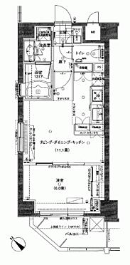 区分マンション-横浜市中区長者町3丁目 間取り