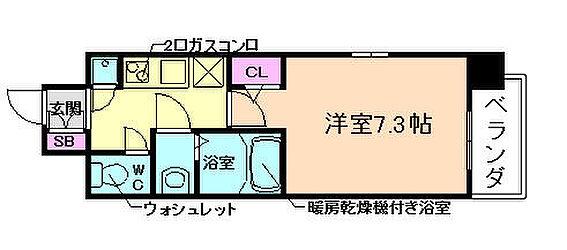 マンション(建物一部)-大阪市福島区吉野4丁目 間取り