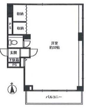 事務所(建物一部)-港区三田2丁目 間取り