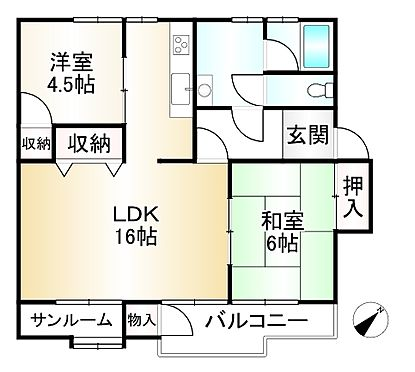 中古マンション-神戸市須磨区友が丘1丁目 間取り