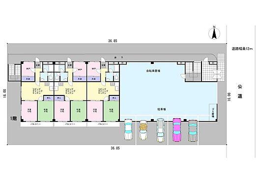 マンション(建物全部)-江戸川区南葛西3丁目 1階配置図
