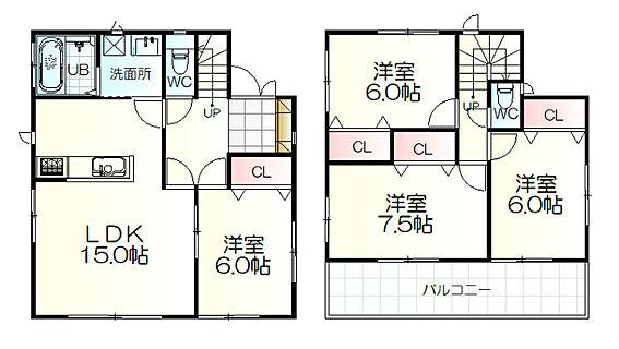 新築一戸建て-仙台市太白区松が丘 間取り