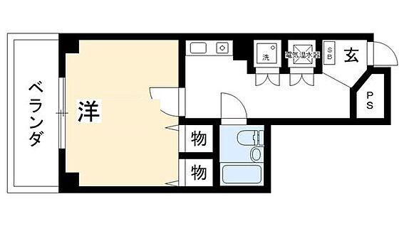 マンション(建物一部)-京都市北区紫野宮東町 収納多めの使い勝手がいい1K