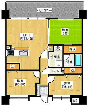 マンション(建物一部)-岸和田市大町1丁目 間取り