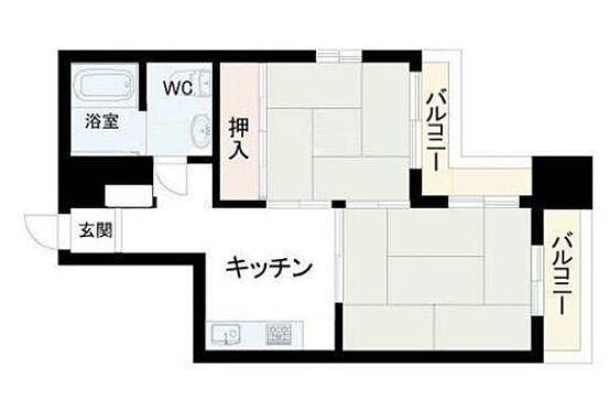 区分マンション-神戸市兵庫区三川口町2丁目 通風と採光に配慮したプラン