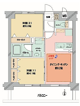 マンション(建物一部)-京都市南区西九条蔵王町 間取り