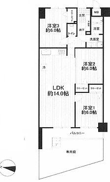 中古マンション-横浜市鶴見区上の宮1丁目 間取り
