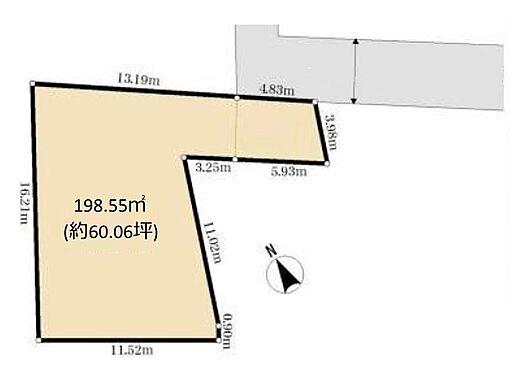 土地-西東京市柳沢6丁目 区画図