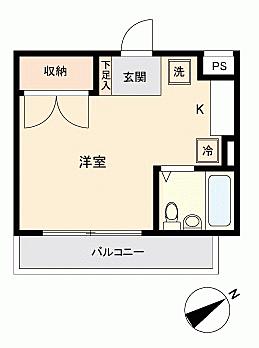 区分マンション-横浜市神奈川区二ツ谷町 間取り
