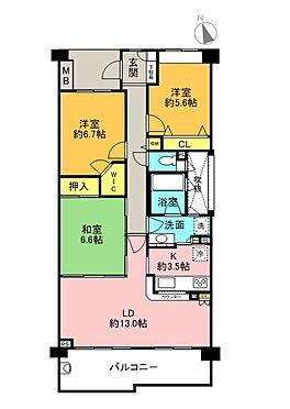 マンション(建物一部)-横浜市栄区鍛冶ケ谷2丁目 間取り