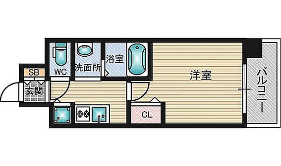 マンション(建物一部)-大阪市東淀川区東中島1丁目 ひとり暮らしには使い勝手のいい間取り。3点セパレートで清潔感あり。