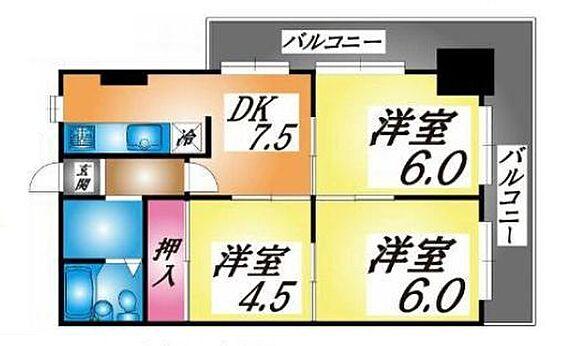 マンション(建物一部)-神戸市長田区菅原通5丁目 広々とした3DK