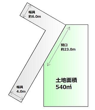 土地-柴田郡柴田町大字船岡字並松 区画図