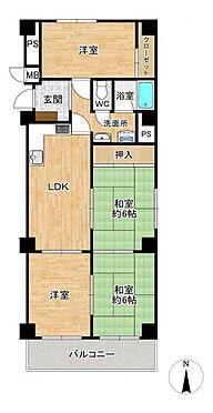区分マンション-名古屋市中川区五女子1丁目 人気の角部屋で玄関から室内が見えにくい、プライバシーに配慮した間取り!2015年室内一部リフォーム済みです。