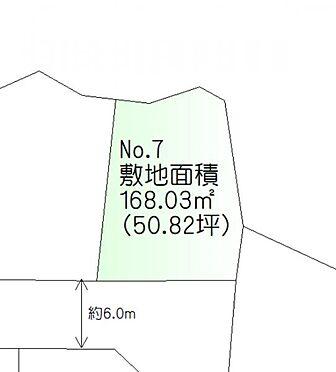 土地-仙台市泉区上谷刈字羽黒山 区画図