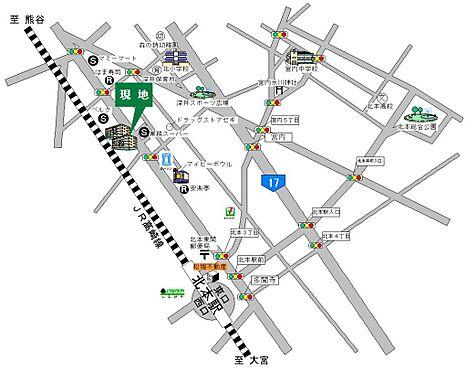 マンション(建物一部)-北本市東間5丁目 地図