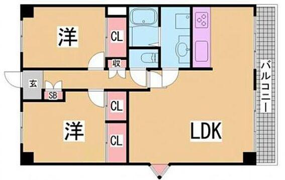 マンション(建物一部)-神戸市北区幸陽町1丁目 間取り