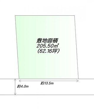 土地-仙台市太白区若葉町 区画図