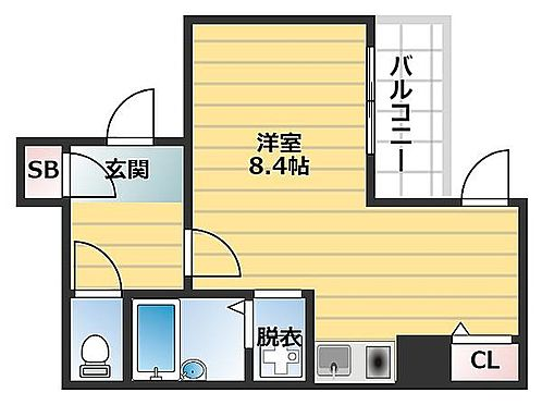 区分マンション-大阪市中央区上本町西1丁目 間取り