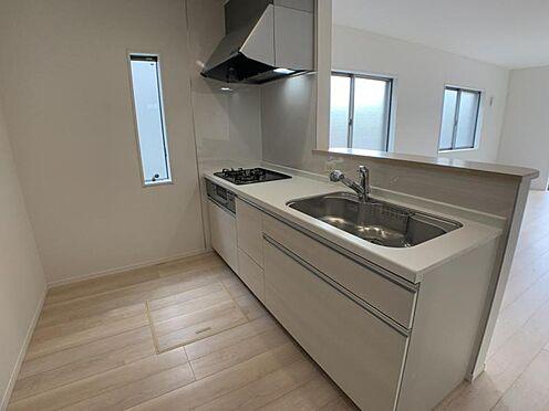 戸建賃貸-名古屋市西区上小田井1丁目 リビングを見渡すことのできるキッチン