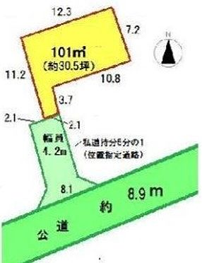 土地-坂戸市大字石井 区画図